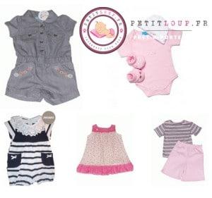 vêtemets bébé