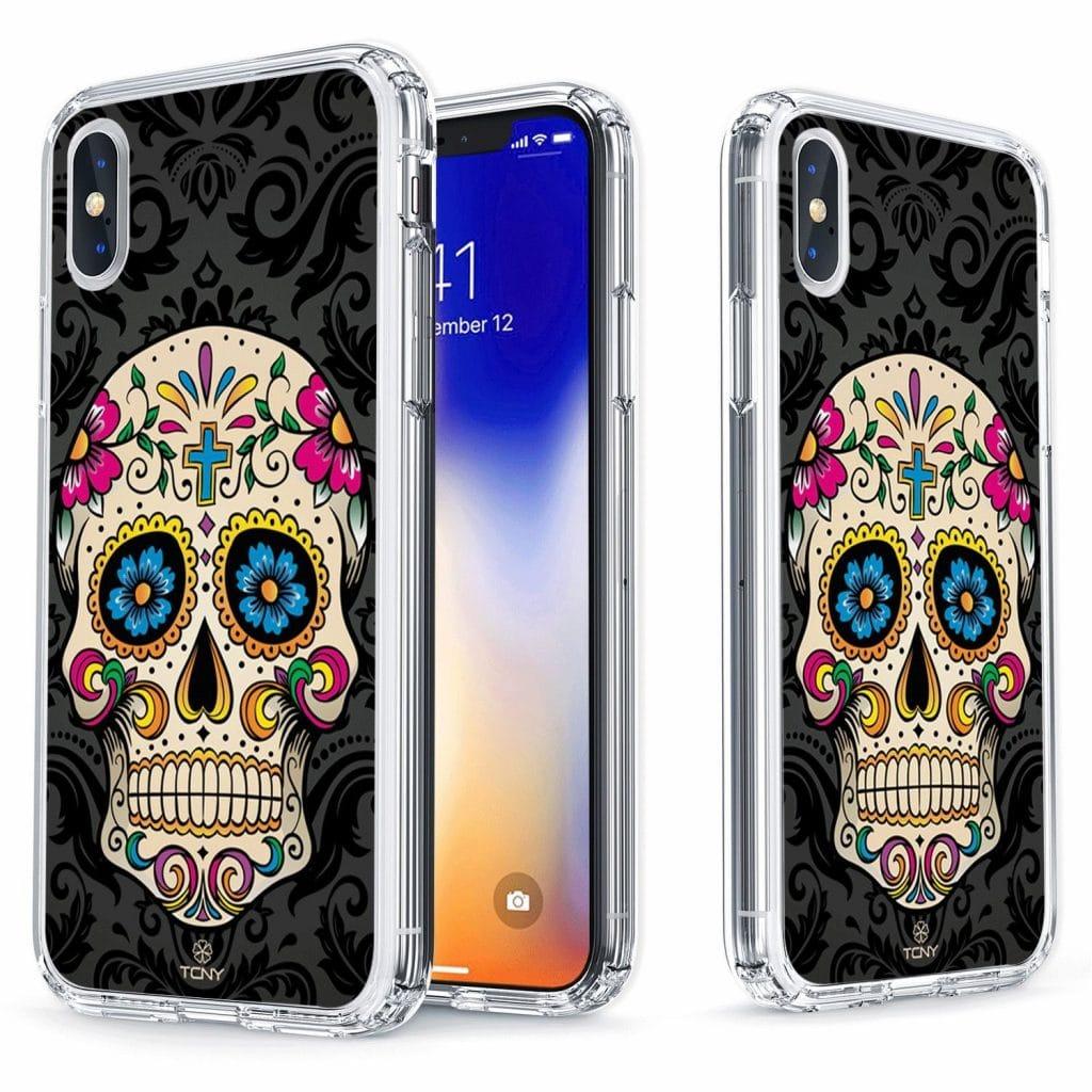 coque d'iPhone X tête de mort